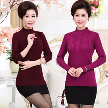 New middle-aged sweater with half high collar