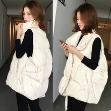 Autumn and winter new Korean thickened drawstring cotton vest