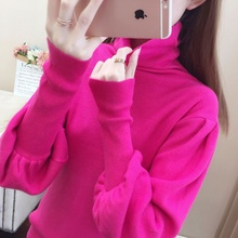 Warm high collar, lazy wind in autumn and winter and knitted sweater inside