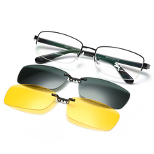 Magnetic absorption spectacle frame polarized light myopia Sunglasses clip Sunglasses hanging piece male half frame night vision driver fishing mirror