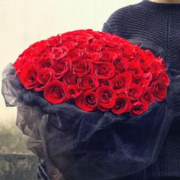 盘锦鲜花同城速递红白粉香槟玫瑰花束礼盒双台子兴隆台生日送花店
