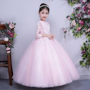 六一儿童礼服公主裙花童走秀礼服女童婚纱裙主持人晚礼服蓬蓬裙春儿童礼服