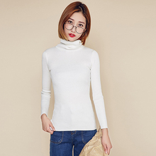 White with low round neck and slim knit