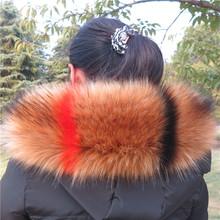 Fox fur fur collar hat band