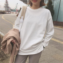 Autumn and winter new Korean pure white Long Sleeve Blouse