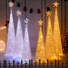 Iron lighting Christmas tree 1.2 m 1.5 m 1.8 m Set Christmas decorations shopping malls layout