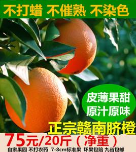 赣南脐橙20斤包邮 江西农家孕妇水果橙子 新鲜信丰寻乌甜脐橙包邮脐橙新鲜