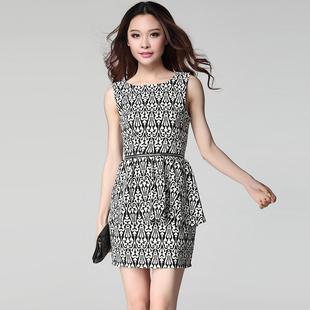 2015夏装新款职业无袖背心裙子夏季女装韩版OL气质修身包臀连衣裙