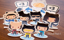 github �N�� - Octodex Sticker Packs