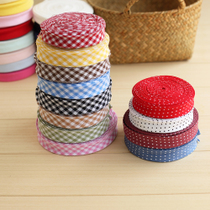 Iron free cotton bag side without elastic woven plain weave Plaid side edging strip joints