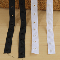 Buttons with plastic resin snap buttons invisible dark buckle garment accessories 3 per metre
