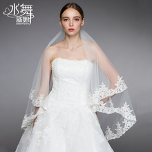 Water dance Bridal Veil new style European lace flower wedding veil accessories R0120 Fang Fei