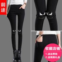 Spring 2017 new female wearing black leggings pants feet pants pants spring summer pencil trousers pants