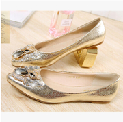 2014 spring and summer new European leg of diamond single shoes women flat Korean pointed flat with shallow mouth shoes women shoes