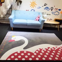 Ins to pad can be height of cartoon home decorative bedside bedroom living room carpet mat children climbing mats