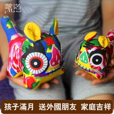 纯手工布老虎 中国风民间手工艺品 小礼品摆件中国特色礼品送老外
