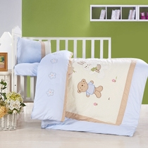 Three-piece cotton quilt kindergarten seasons crib bedding by cotton children were napping six or seven piece set