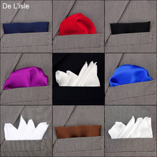 Pocket handkerchief De l'isle White silk