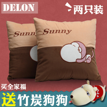 Vehicles with four seasons car waist pillow cushion can be used on the car take care of lumbar pillow pillow pair car pillow