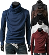 Storm style pile neck design long sleeve sweater