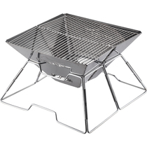 Outdoor grill portable barbecue charcoal furnaces folding stainless steel Grill large