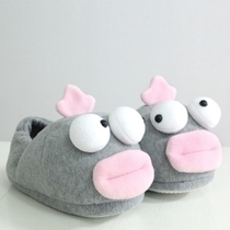 PLUMO cute cute indoor Plush Slippers slip warm homes in winter and lovely cotton slippers women winter peep